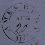 AMESBURY 1827 SFL, ESSEX CO PO Stamp