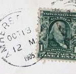 Amherst PO Stamp 1905