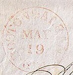Boston PO Stamp 1847 RED