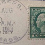 CHESTERFIELD 1913 Bisbees, MA PO Stamp