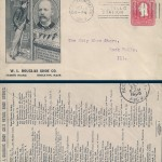 Douglas Shoe Envelope 1905 (front & back sides)