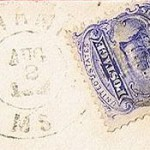 Northampton 3c TRAIN 1869 PO Stamp