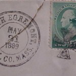 SOUTH EGREMONT BERK. CO. 1889 PO Stamp