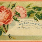 Trade Card Orange New Home Sewing Machine Co