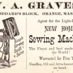 Trade Card Orange New Home Sewing Machine Co W Grave 2