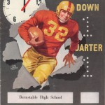 1951 HS Football Program - Barnstable vs Wareham 1