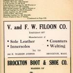 V & FW Filoon 1949 Brockton Directory Ad