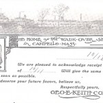 1902 - Walk-Over Receipt Card