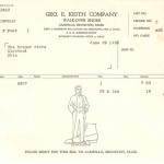 1926 Walk-Over Invoice