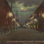 Excelsior Springs, Missouri - Walk-Over Shoe sign (on left) - c1916
