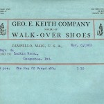 Walk-Over  - Letterhead -  1903