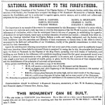 National Monument to the Forefathers contribution chart and story - 1872