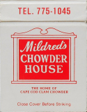 mildred chowder house matchbook