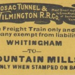 Hoosac Tunnel & Wilmington Ticket