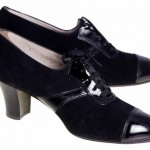 1920 Black Suede Heels Women's Shoes