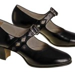 1920s Black Leather Heels - Mary Jane - Women's Shoe