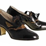 1920s Black Leather Heels Oxford Women's Shoe