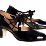 1920s Black Patent Leather Women's Shoe