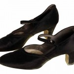 1920s Black Silk Mary Janes Women's Shoe