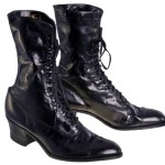 Black Victorian Leather Women's Boot