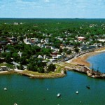 Aerial View of Plymouth, Massachusetts