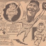 Baseball Cartoon - 1935 - Babe Ruth