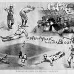 Boston Beaneaters - Opening Day - April 24, 1889 - Harper's Magazine Print