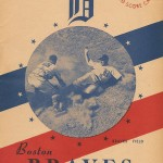 Boston Braves Program - 1945