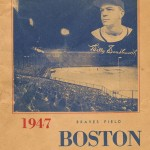 Boston Braves Program - 1947