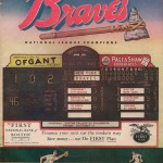 Boston Braves Program - 1949
