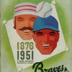 Boston Braves Program - 1951