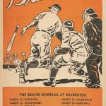 Boston Braves Program - 1953 - Spring Training