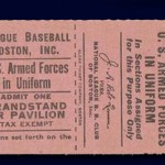 Braves Field Ticket Stub - 1942
