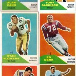 1960 - Boston Patriots - Fleer Football Cards