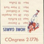 1960 - Boston Patriots Matchbook Schedule