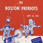 1961 - Boston Patriots - @ Buffalo Bills Program