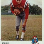 1961 - Boston Patriots - Fred Bruney Football Card