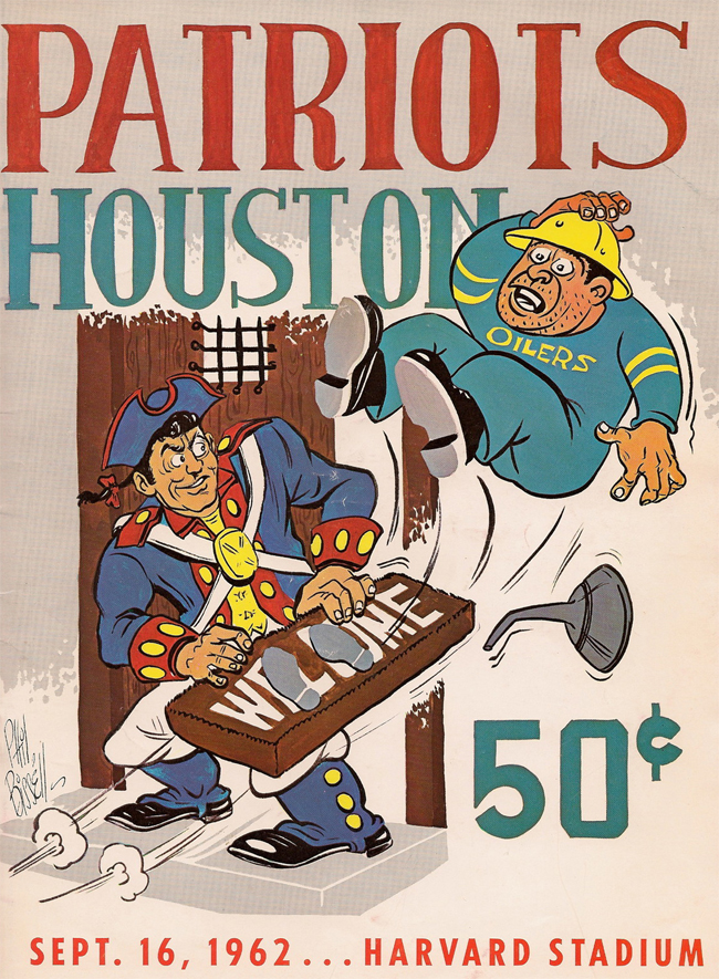 1962 - Boston Patriots - vs. Houston Oilers @ Harvard Stadium