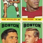 1965 - Boston Patriots Football Cards