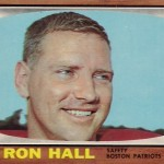 1965 - Boston Patriots - Ron Hall Football Card