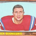 1966 - Boston Patriots - Nick Buoniconti Football Card