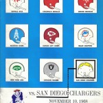 1968 - Boston Patriots - vs San Diego Chargers Program