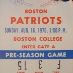 1970 - Pre-Season Game Ticket Stub