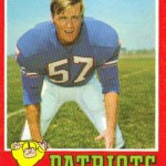 1971 - Boston Patriots - Marty Schottenheimer Football Card