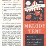 Cape Cod Melody Tent - 1966 Season Brochure
