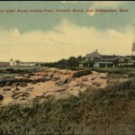 East Mattapoisett MA Neds Point Lighthouse Crescent Beach c1910