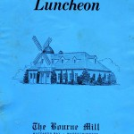 The Bourne Mill Restaurant Luncheon Menu 1