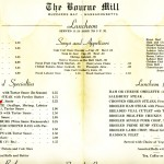 The Bourne Mill Restaurant Luncheon Menu 2