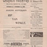 1895 Madison Square Garden Playbill Ad for Rip Van Winkle