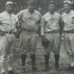 Jimmie Foxx, Babe Ruth, Lou Gehrig, and Mickey Cochrane